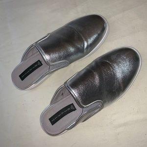 Silver Slip on Sneakers by Steve Madden